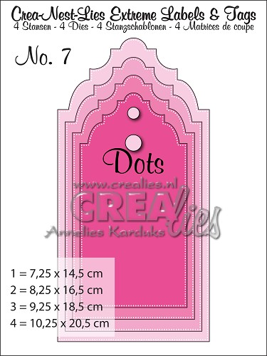 Extreme Labels & Tags stansen/dies no. 7 With dots - CREAlie