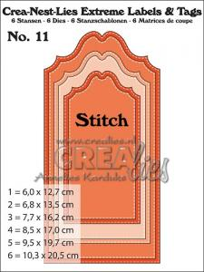 Extreme Labels & Tags stansen/dies no. 11 With stitch line - CREAlies