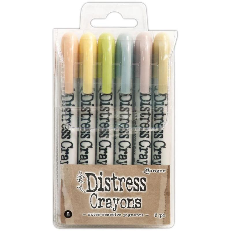 Distress Crayons Set 8 - Tim Holtz