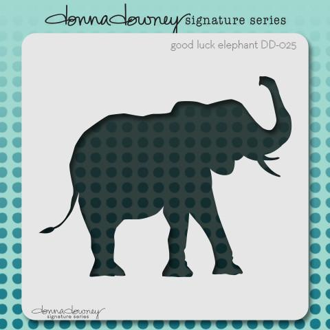 Stencil Good Luck Elephant - Donna Downey