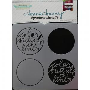 Donna Downey Signature Stencils-OUTSIDE THE LINES