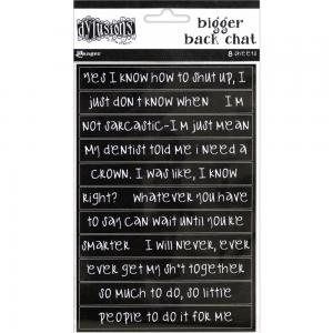 Dylusions Creative Dyary BIGGER BACK CHAT Stickers BLACK - Dyan Reaveley