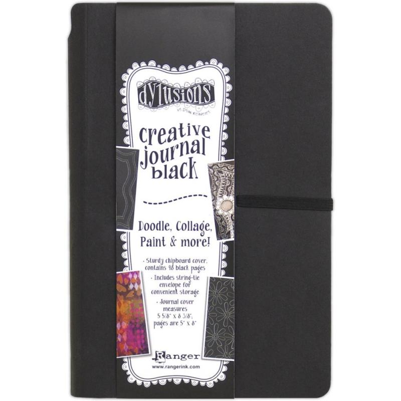 Creative Journal BLACK SMALL- Dylusions