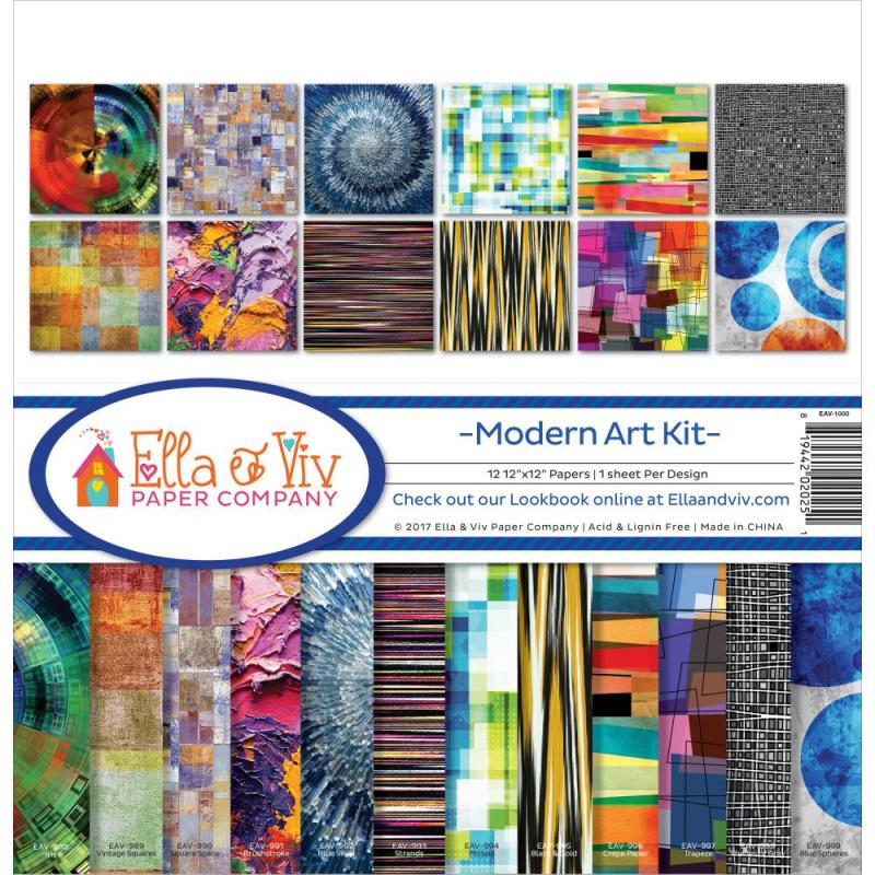 "MODERN ART - Ella & Viv Collection Kit 12""X12"""