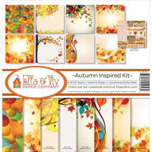 "AUTUMN INSPIRED - Ella & Viv Collection Kit 12""X12"""