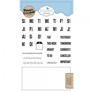 SCHEDULE  Clear Stamp - Elisabeth Craft Design