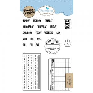 CALENDAR  Clear Stamp - Elisabeth Craft Design