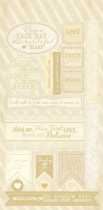"FAITH Cardstock Die-Cuts 6""X12"" - Authentique"