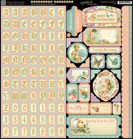 SWEET SENTIMENTS STICKERS - GRAPHIC 45