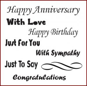 Happy Anniversary - Imagination Crafts