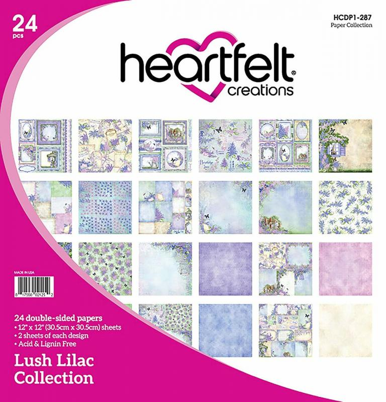 Lush Lilac Collection - 12x12 Paper Pad - Heartfelt creations