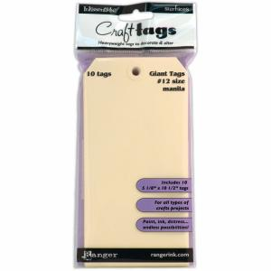 Ranger - Craft Tags - Manilla Giant Tags 10pc - 5 1/8 x 10 1/2