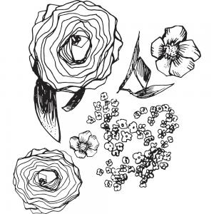 BUILD A BOUQUET Artomology Clear Stamps - Jane Davenport