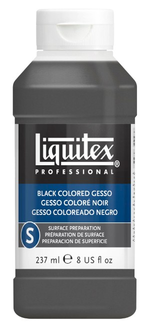 BLACK Gesso 237ml - Liquitex
