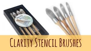 Set of 4 ClarityStencil Brushes - Clarity Stamps