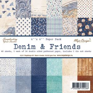 Denim & Friends - 6x6 Paper Pack - Maja Design