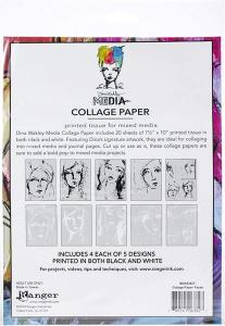 Media Collage Tissue Paper FACES - Dina Wakley