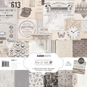 Pen & Ink PAPER PACK - Kaisercraft