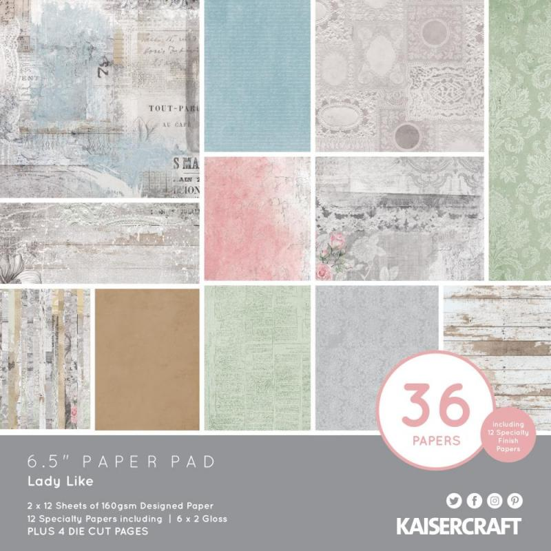 "LADY LIKE 6.5""X6.5"" Paper Pack - Kaisercraft"