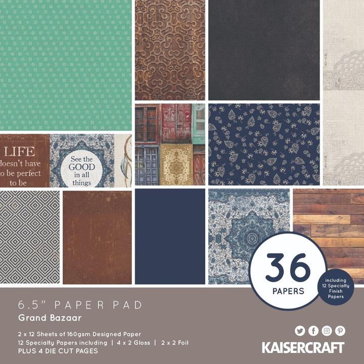 "GRAND BAZAAR 6.5""X6.5"" Paper Pack - Kaisercraft"