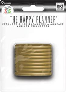 """EXPANDER DISCS 1,75"""" (9st) GULD - The Happy Planner"""