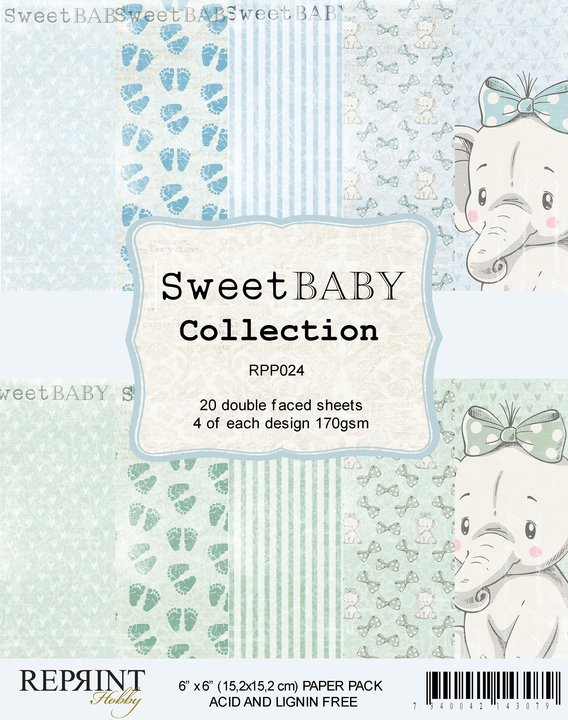Sweet Baby BLUE 6X6 Collection Pack - Reprint