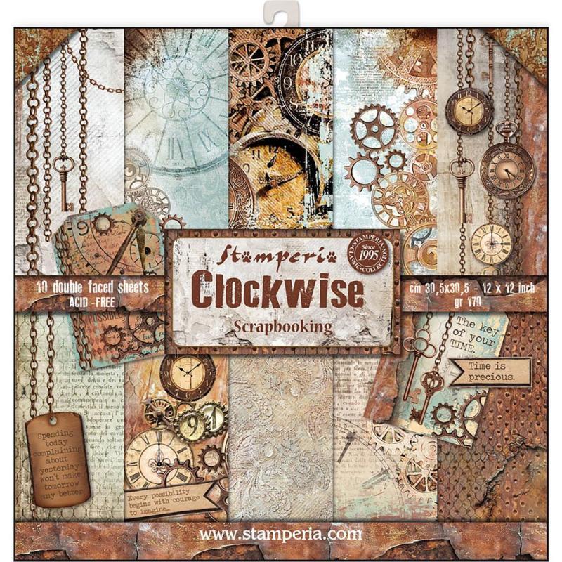 CLOCKWEISE 12x12 Paper Pad - Stamperia