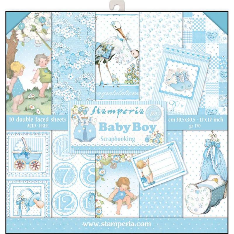 BABY BOY 12x12 Paper Pad - Stamperia