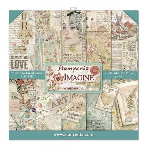 Imagine 12X12 Paper Pad - Stamperia