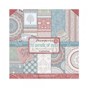 26 SECRETS OF INDIA 12x12 Paper Set - Stamperia