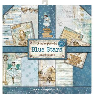 "BLUE STAR Paper Pad 8""X8"" - Stamperia"