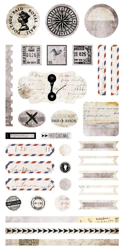 Air Mail - Stickers 6x12 - 7 Dots Studio