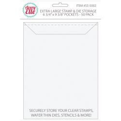 Avery Elle - EXTRA LARGE Stamp & Die Storage Pockets 50/Pkg