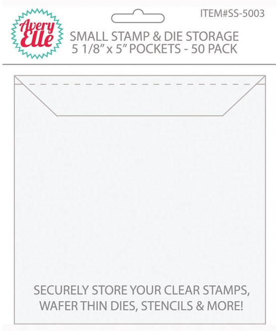 Avery Elle - SMALL Stamp & Die Storage Pockets 50/Pkg