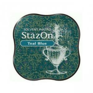 StazOn Midi Ink Pad TEAL BLUE - Tsukineko