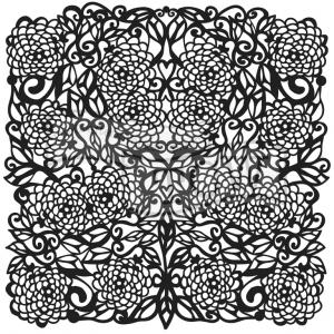 TCW Flower Tangle 12x12  - The Crafters Workshop