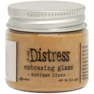 ANTIQUE LINEN Distress Embossing Glaze - Tim Holtz