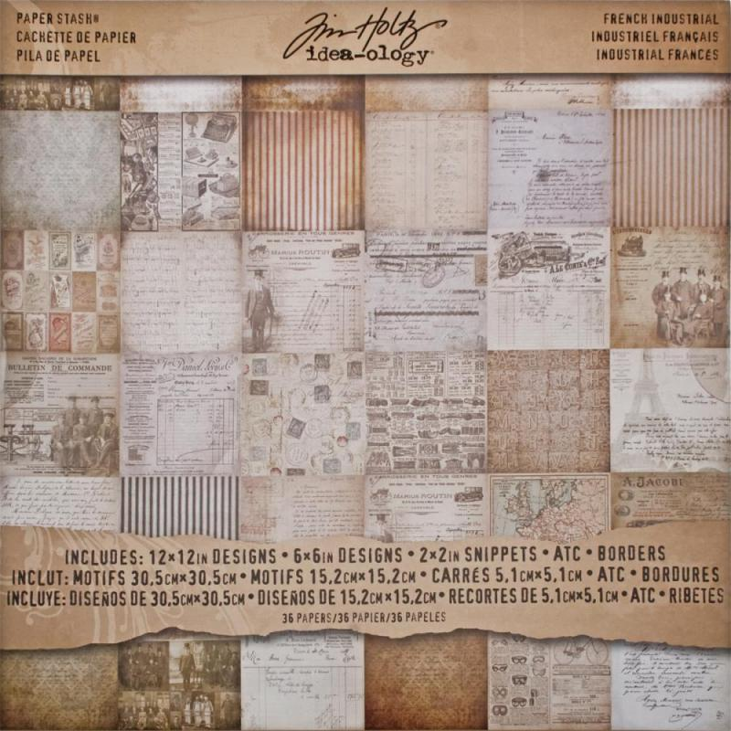 FRENCH INDUSTRIL 12x12 Paper Stash - Tim Holtz