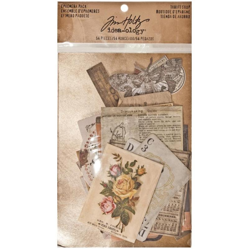 THRIFT SHOP - Idea-Ology Ephemera Pack - Tim Holtz