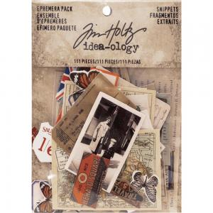 SNIPPETS - Idea-Ology Ephemera Pack - Tim Holtz