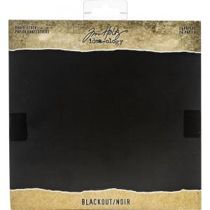 BLACKOUT Kraft Stock Cardstock Pad - Tim Holtz
