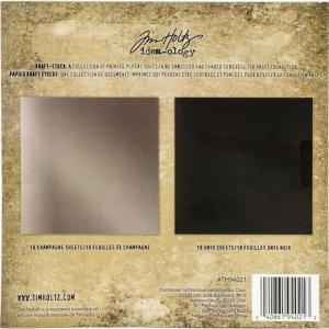 METALLIC Kraft Stock Cardstock Pad - Tim Holtz