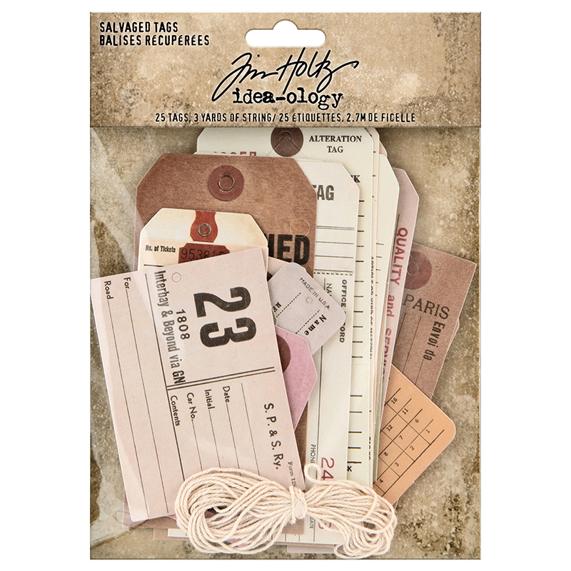 Idea-Ology SALVAGED TAGS - Tim Holtz