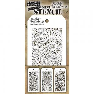 Layering MINI Stencil - SET 47 - Tom Holtz