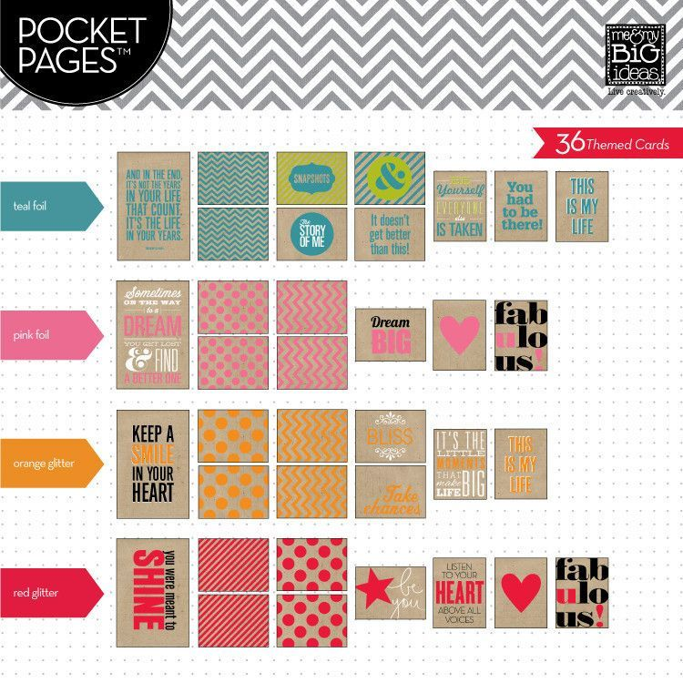 This Is My Life Pocket Pages Specialty Cards - Me & My Big Ideas