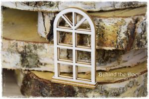 Behind the door Layered Window GRILLE- SnipArt