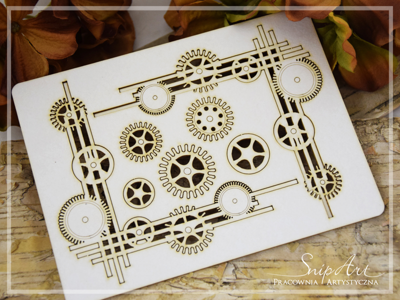 Industrial Factory - Corner Set with cogs - SnipArt