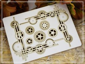 Steampunk Corner Set with cogs - SnipArt