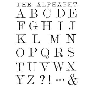 The Alphabet - Stamperia