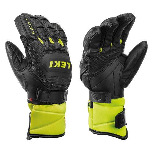 Leki Glove WC Race Flex S JR Black/Yellow 19/20